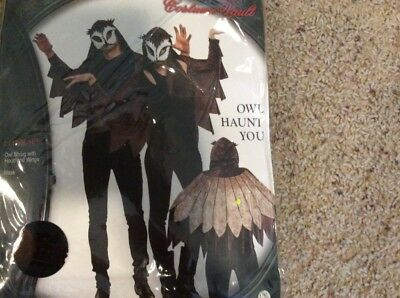 Lip service adult owl costume wings mask new in package Halloween costume