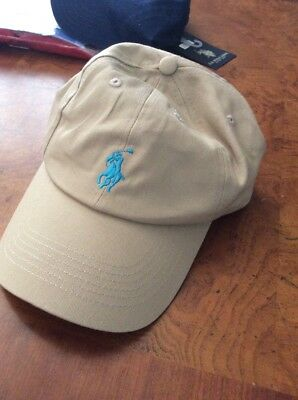 new polo horse hat cap baseball tan buckle back leather