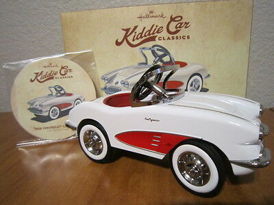 Hallmark Kiddie Car Classic 1958 Chevrolet Corvette Limited Edition Sold Out!!