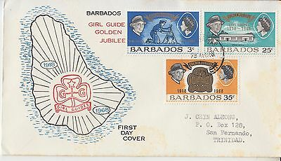 Scouting pathfinders Barbados 1968 FDC Girl Guides