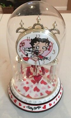 Betty Boop Clock Glass