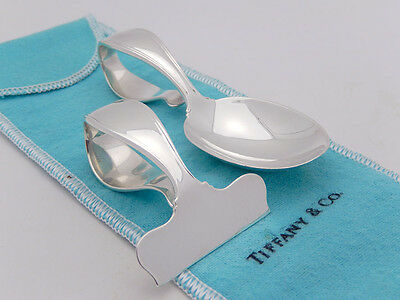 Tiffany Baby Spoon & Food Pusher Set in Sterling Silver