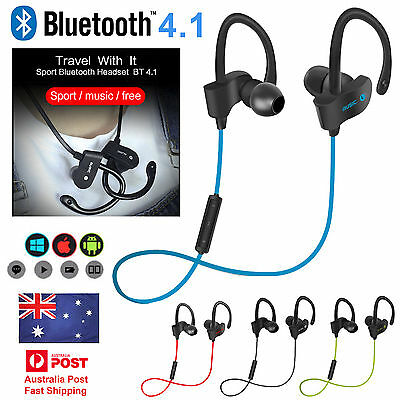 4.1 Bluetooth Wireless Headset Sport Headphone Earphone For All Mobile Phones