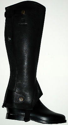 Treadstone Calf Skin Leather French Leggings - Chaps Gaiters - New - Extra Small