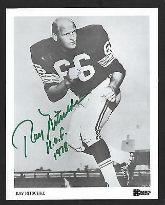 "Ray Nitchke signed 6""x8"" picture Football Hall of Fame"