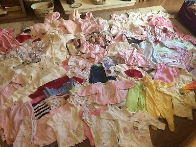 Mega Bundle Baby Girls Clothes Age 0-3 Months