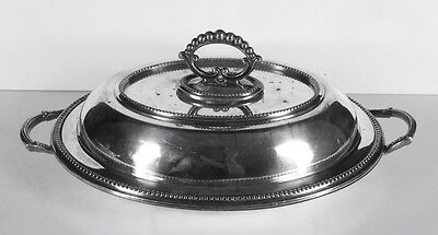 Silverplated Vegetable Server With Pierced Removable Bottom Sheffield L&WS