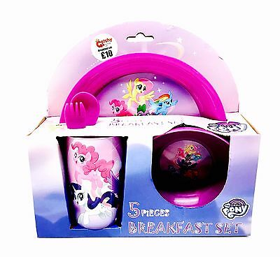 My Little Pony 5 Piece Breakfast, Lunch, Meal Set Brand New