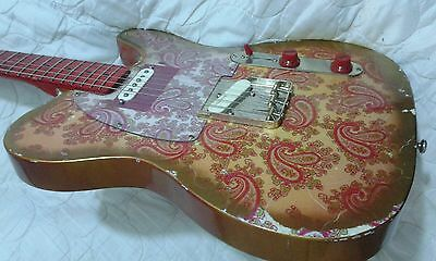 PINK PAISLEY TELECASTER. Uk made.