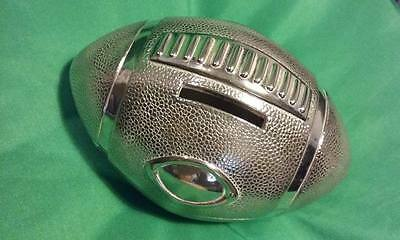 American football memorabilia silver plated money box new and boxed NFL Yankees