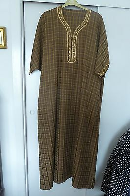Moroccan Djallabia or kaftan, unisex, NWT. relaxed fit 16 - 20