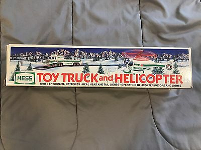 1995 Hess Truck & Helicopter TRUCK WORKS, HELICOPTER DOES NOT