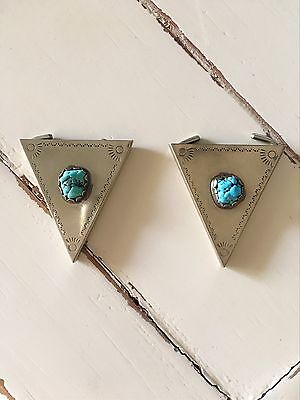 Vintage Turquoise Collar Tips Cowboy Cowgirl Western