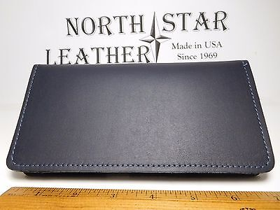 North Star Navy Side Tear Leather Checkbook Cover-Factory Second-USA Made-#130 B