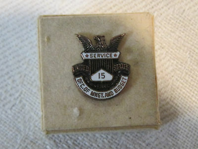 Vintage OMB government 15 year service lapel pin