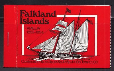 Falkland-Inseln Mi-Nr. 255 - 264 I Booklet rot **, Frm. Postschiffe / Mailboats