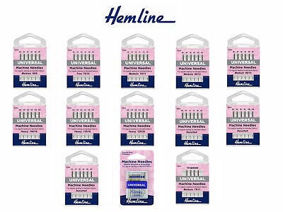 Hemline Klasse Universal Sewing Machine Needles - All Sizes - Medium Fine Heavy