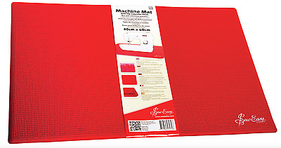 Sew Easy Slip Reduction Mat for Sewing Machine - Red - 40 x 60cm