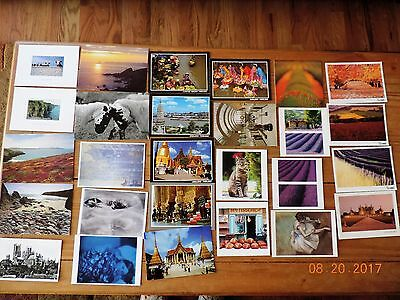 Travel and Art Postcards - Ireland, Wales, France, Thailand (27) Odd Sizes