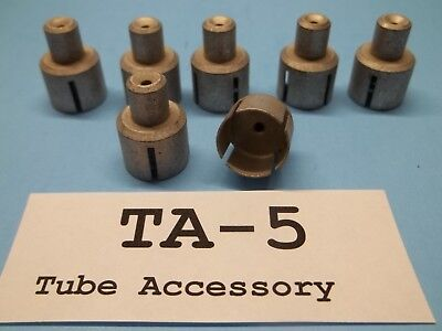 """Plate Cap, can be used as adapter .500 to .250"""", no tread, Lot of 7"""