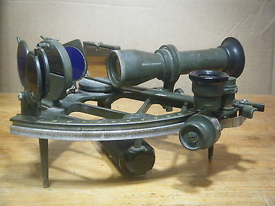 Ussr Cold War Marine Navy Navigation Sextant Russian Soviet Cho-M Telescope Box