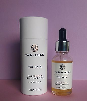 BNIB Tan Luxe The Face Illuminating Self-Tan Drops Light/Medium 30ml