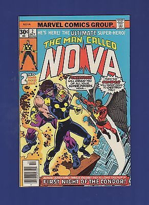 The Man Called NOVA #2 1st Night of the Condor Marvel Comics 1976 VF NICE! GEM!