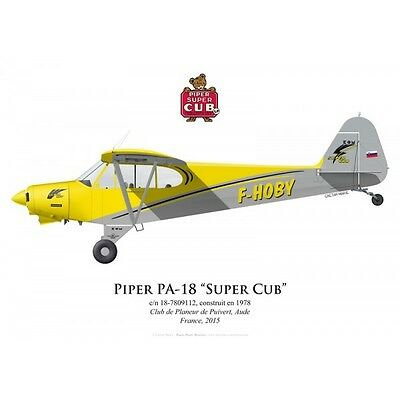 Print Piper PA-18 Super Cub, F-HOBY (by G. Marie)