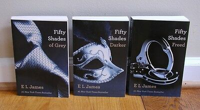 LOT NEW BOOKS Fifty Shades of Grey Darker Freed TRILOGY by E L James EL 50 gray
