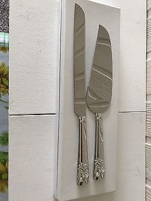 New Cake Server And Knife Set - Butterfly