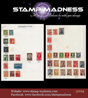 ARGENTINA Collection of stamps 1862 - 1938 bulk estate buy