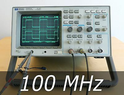 HP / Agilent 54601A 4-channel 100 MHz Oscilloscope + 2 New Probes. Very clean