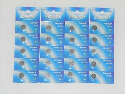20 x EUNICELL CR1225 3V Lithium Batteries  BR1225  DL1225 Button Cell Battery
