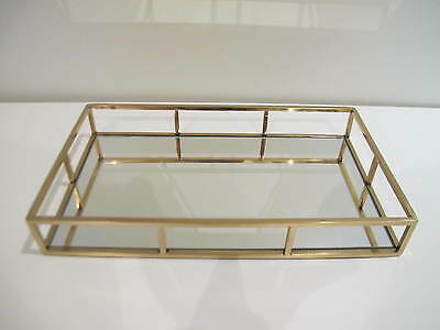 Gold/ Rose Gold Mirror Rectangle Decorative Tray