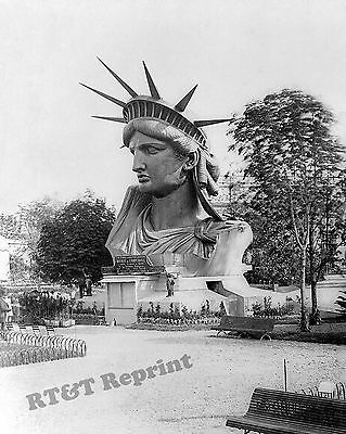 Photograph of the Head from the Statue Liberty in Paris France Year 1883 8x10