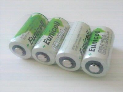 4 x EUNICELL CR123A CR123 CR17345 LITHIUM 3V BATTERY camera flashlight batteries