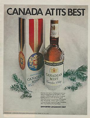 1972 Canadian Mist Whisky Vintage Color Photo Print Ad