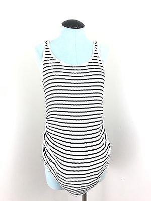 Old Navy Maternity Black & White Striped Tank Top Size Medium Women's