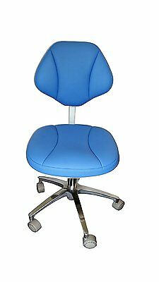 Leather Medical Dentist's Chair, Doctor's Stool Adjustable Mobile Chair