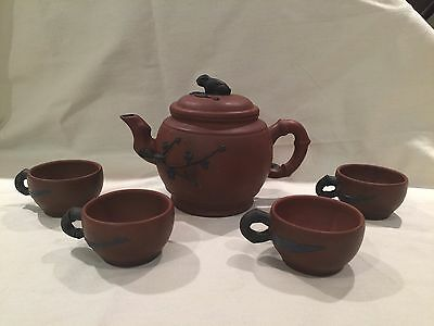 Yixing Teapot and 4 Cups