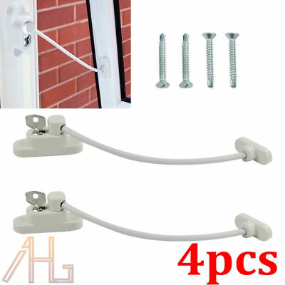 New 4X Window Door Restrictor Child Baby Safety Security Locking Cable Wire Lock