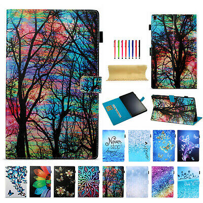 For Amazon Kindle Fire HD8 2017 /2016 6th Slim Smart Wallet Leather Case Cover