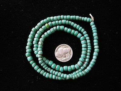 Old Venetian Chevron Green Glass Trade Beads Africa