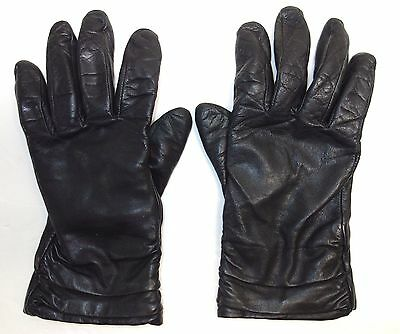 Women's Black Leather Driving Gloves size Small / Medium