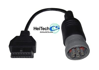 Heavy Truck j1708 Deutsch 6 Pin to OBD2 OBDII 16 Pin Conversion Cable