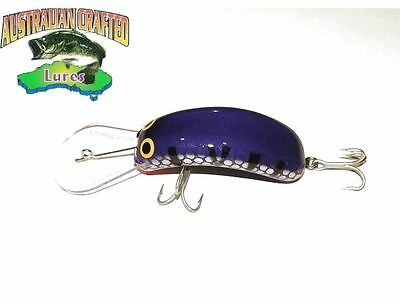 Australian Crafted Lures- cod 90mm invader Purple pink col;66 20ft a.c.lures