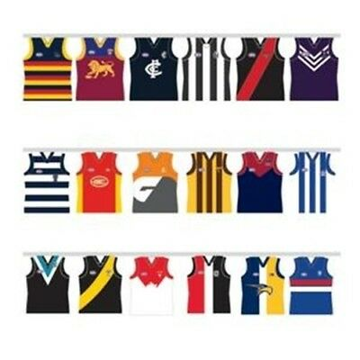 AFL Football All Team 5.5 meters Paper Party Bunting Flag Indoor BNWT