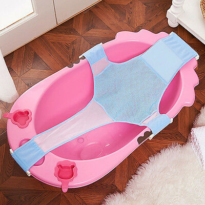 Hot Baby Infants Bathing Seat Support Net Sling Shower Mesh Hammock For Bathtubs