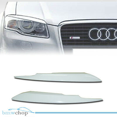 Painted all color for Audi A4 B7 Eyelids Eyebrows Headlight Cover S4 ABS