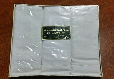 Vintage Traditionals Ltd Of California Mens Handkerchiefs Made In Australia